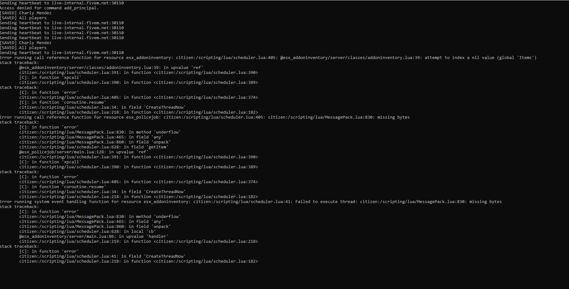 beug addon-inventory - Problèmes scripts - Fivem-france