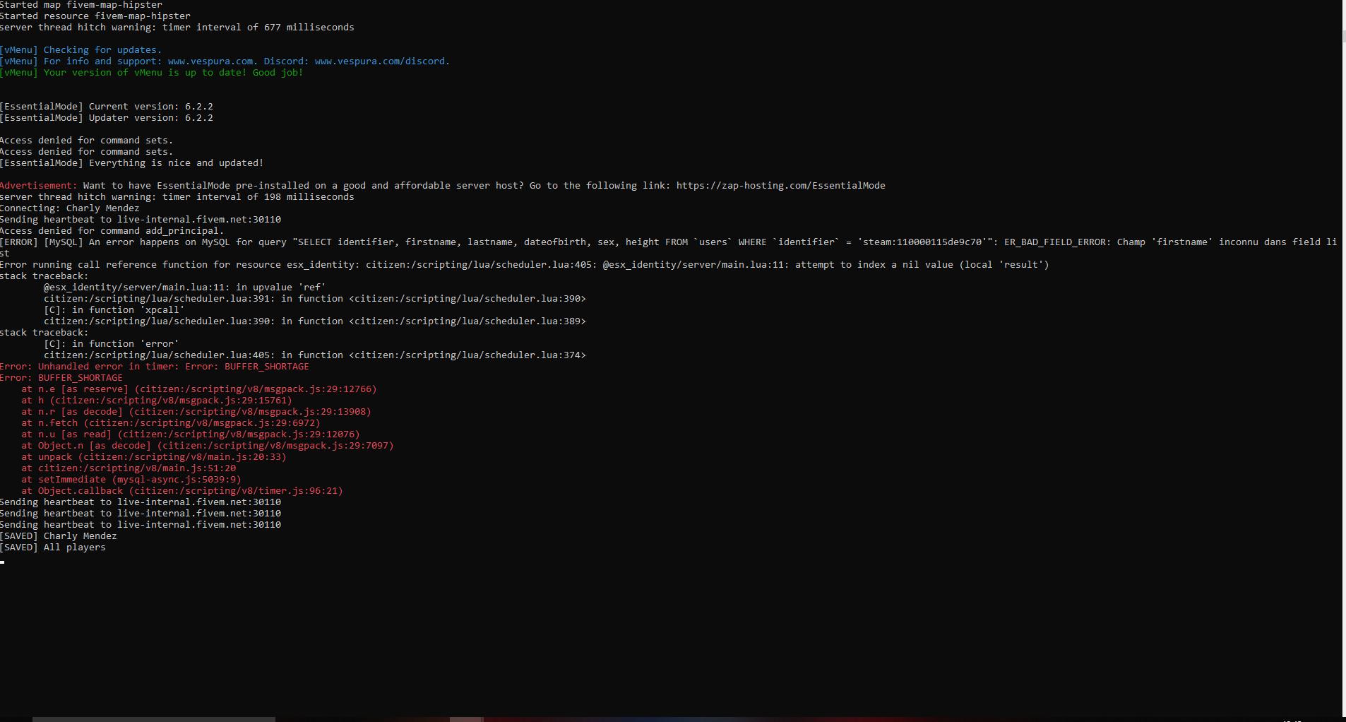 Bug esx_identity - Problèmes scripts - Fivem-france